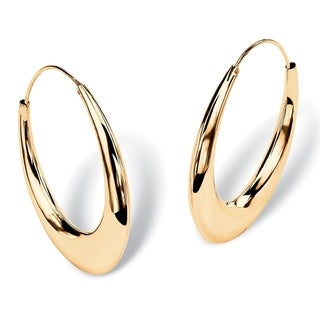 Yellow Gold over Sterling Silver Hoop Earrings (47mm)