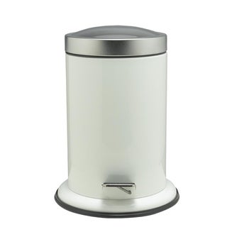 Sealskin Small Bathroom Step Trash Can Acero White