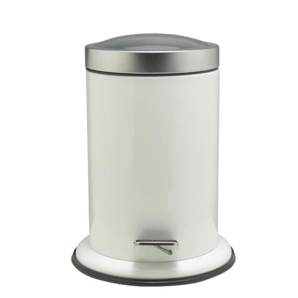 Sealskin Small Bathroom Step Trash Can Acero White