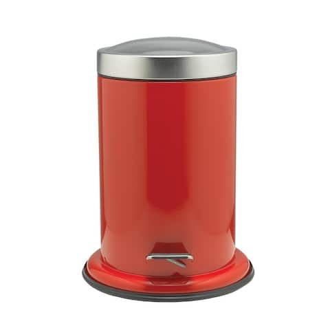 Sealskin Small Bathroom Step Trash Can Acero Red