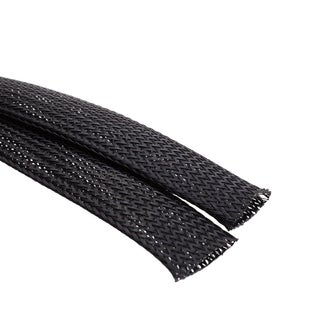 Offex 1 Inch Diameter Woven Polyester Expandable Wire Sleeving - 6 Feet
