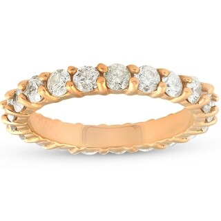 14k Yellow Gold 2cttw Diamond Eternity Ring Womens Wedding Anniversary Band