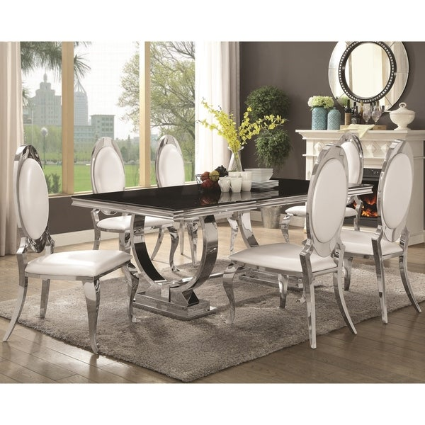 Shop Luxurious Modern Design Stainless Steel Dining Set