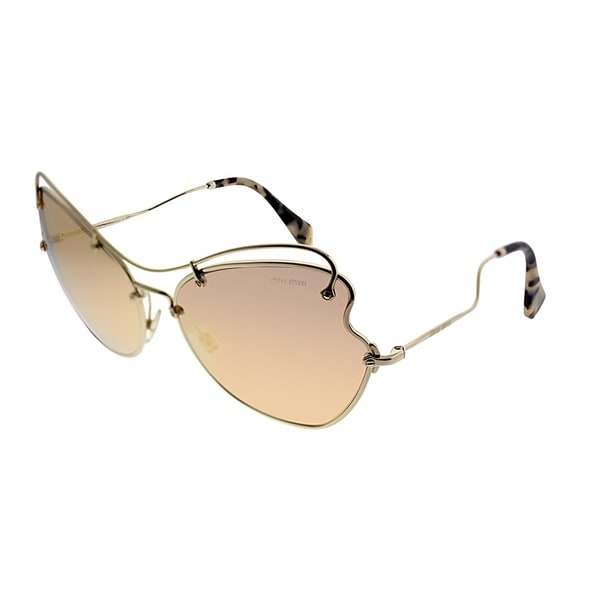 73f863075a9 Miu Miu Cat-Eye MU 56RS Scenique Collection ZVN6S0 Women Pale Gold Frame  Rose Gold