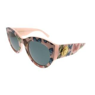 5fa3df1a62 Versace Cat-Eye VE 4353 528687 Women Butterfly Pink Frame Grey Lens  Sunglasses