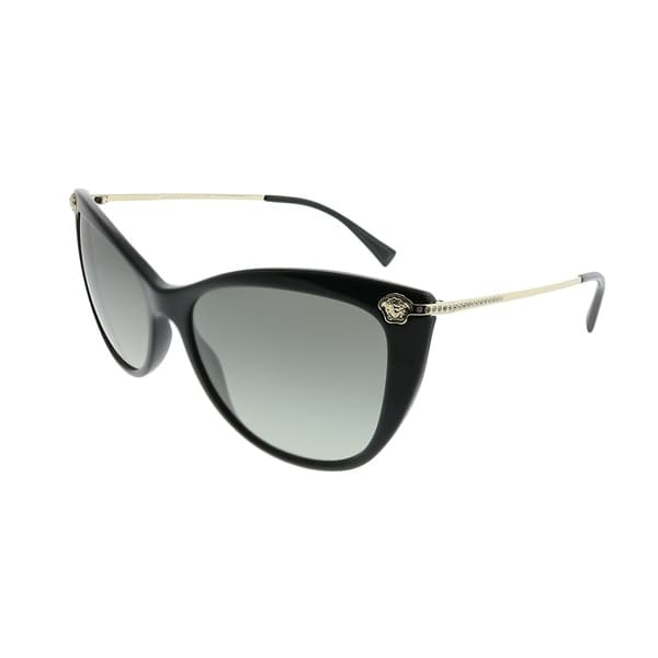 8a9988f19ef Versace Cat-Eye VE 4345B GB1 11 Women Black Frame Grey Gradient Lens  Sunglasses. Click to Zoom
