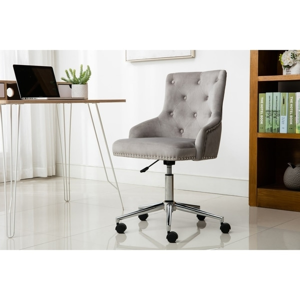 Porthos Home Danica Height Adjustable Office Chair - Suede Upholstery