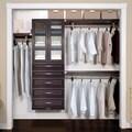 John Louis Home 16in deep Solid Wood 5-Drawer/Doors Woodcrest Deluxe Organizer Espresso