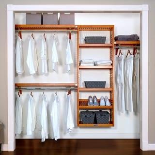 Link to John Louis Home 12in Deep Solid Wood Woodcrest Premier Organizer Caramel Similar Items in Storage & Organization