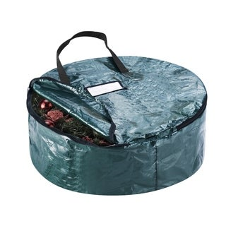 "Elf Stor Premium Holiday Christmas Wreath Storage Bag 24"" Wreaths"