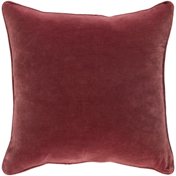 Decorative Vesey Burgundy 18-inch Throw Pillow Cover