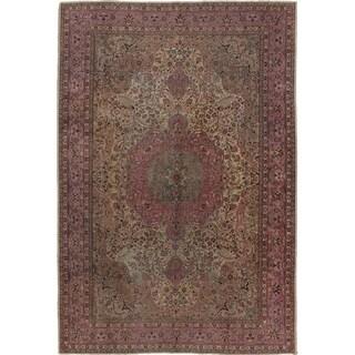 ECARPETGALLERY Hand-knotted Keisari Vintage Pink Wool Rug - 6'11 x 10'4