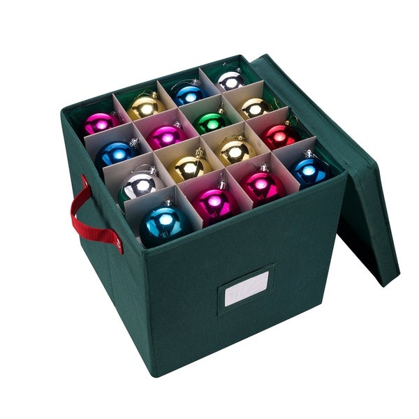 Elf Stor Premium Christmas Ornament Storage Chest 64 Balls w/ Dividers. Opens flyout.