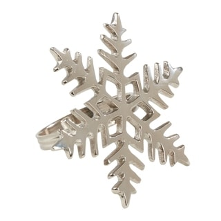Table Napkin Rings With Snowflake Design (Set of 4)