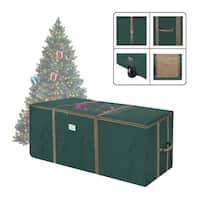 Elf Stor Rolling Christmas Tree Storage Duffel Bag w/Window 9' Tree