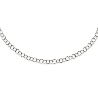 Stainless Steel Polished 6MM Circle Link Necklace - china