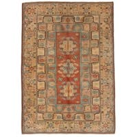 ECARPETGALLERY Hand-knotted Ushak Copper Wool Rug - 6'6 x 9'2