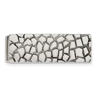 Stainless Steel Textured and Polished Money Clip