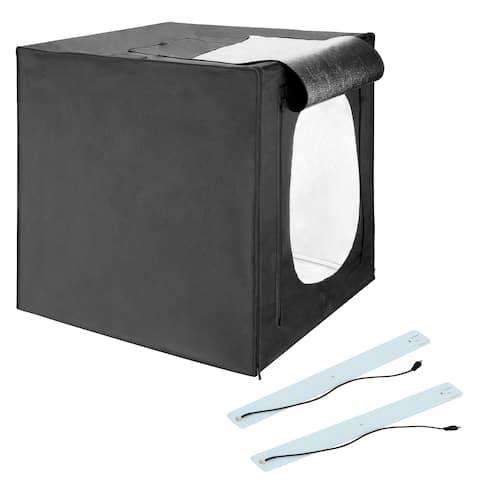 """Square Perfect 28"""" LED Photo Studio In A Box w/4 Color Backdrops"""