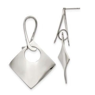 Chisel Stainless Steel Polished Post Dangle Earrings