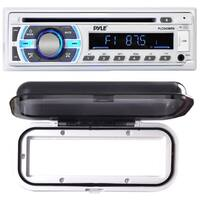 Pyle PLCD43MRB Bluetooth MP3/Aux/USB/SD Card Stereo Radio Receiver with White Water Resistant Radio Shield