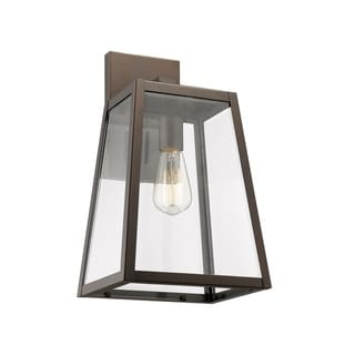 Link to 1-light Oil Rubbed Bronze Outdoor Wall Sconce Similar Items in Outdoor Wall Lights