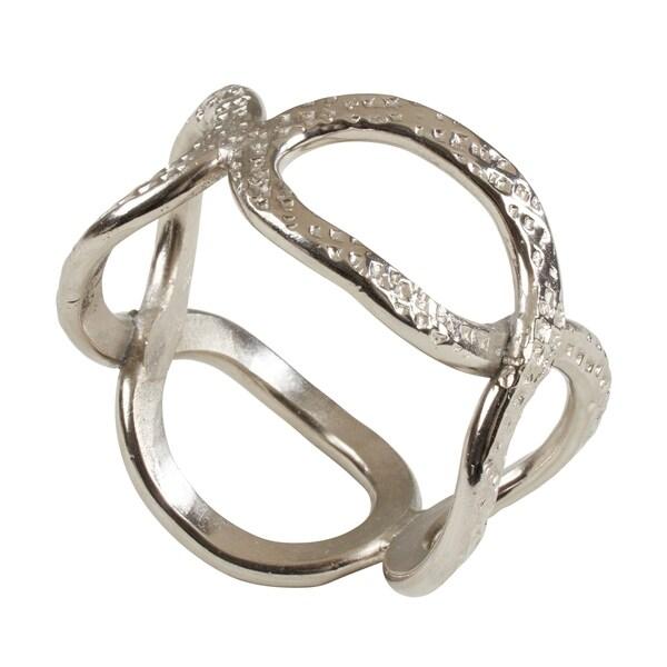 Hammered Loop Napkin Rings (Set of 4)