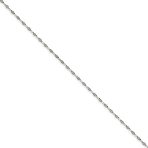 Versil Stainless Steel Polished Fancy Link Chain