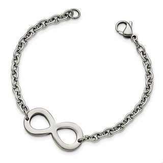 Chisel Stainless Steel Polished Infinity Bracelet - china