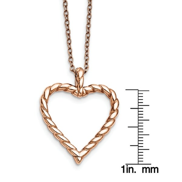 Stainless Steel Pink IP-plated Pendant Necklace