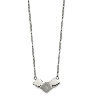 Chisel Stainless Steel Polished Laser-cut with 2.5-inch Extension 15-inch Necklace - china