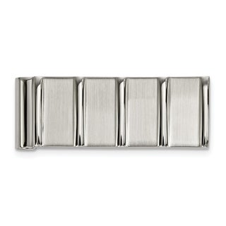 Stainless Steel Polished and Brushed Money Clip
