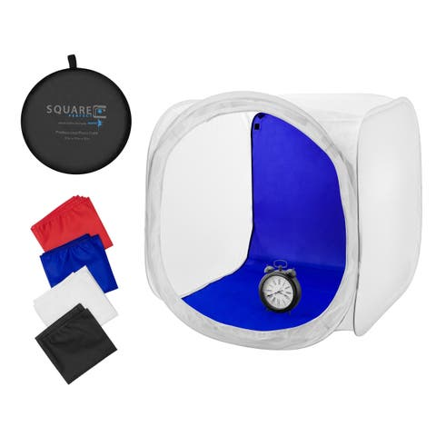 """Square Perfect 30"""" Classic Photography Softbox w/ 4 Backgrounds"""