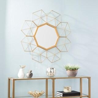 Harper Blvd Riemann Oversized Gold Sunburst Mirror - Soft Gold