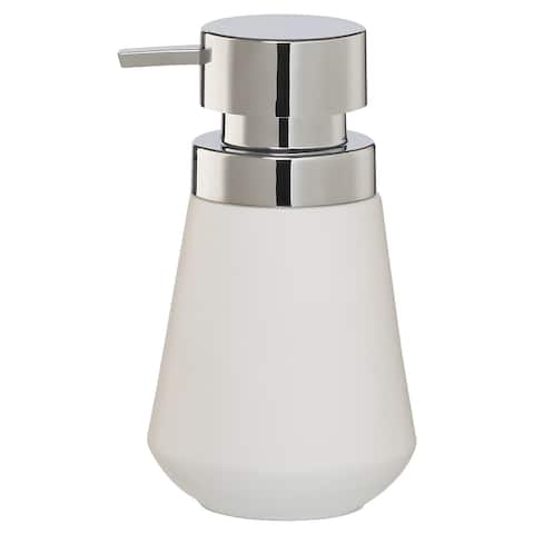 Sealskin Countertop Soap And Lotion Dispenser Conical Chrome White Porcelain