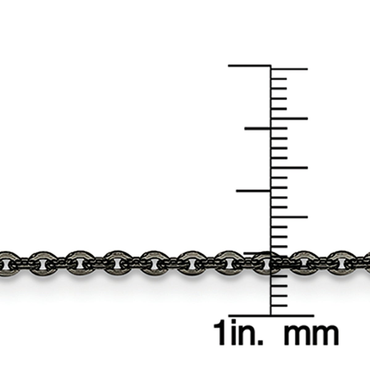 Stainless Steel IP Black-plated 2.30mm 22in Cable Chain