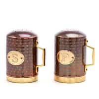 """Hammered Antique Copper Stovetop Salt & Pepper Set, 4.5"""""""