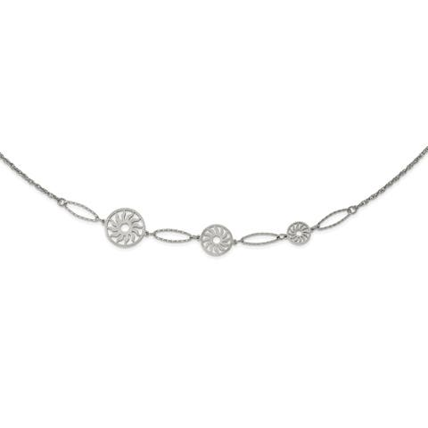 Chisel Stainless Steel Polished Suns 36-inch Necklace