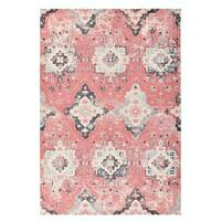 """Colorfields Greyson Washed Red Printed Rectangle Rug - 8'6"""" x 12'"""
