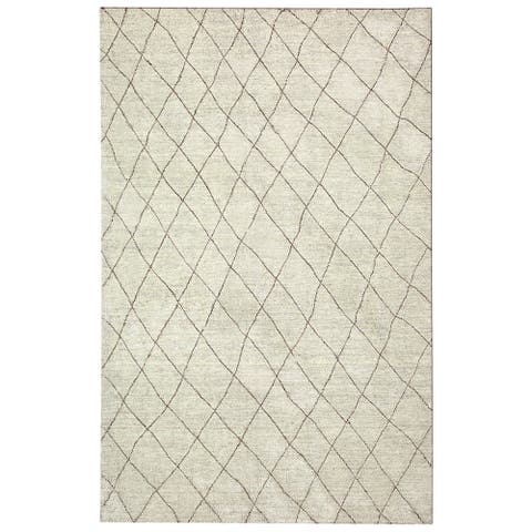 Colorfields Kenza Natural Hand-woven Rectangle Rug - 5'6 x 8'6