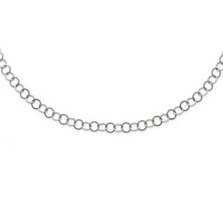 Stainless Steel Polished 8MM Circle Link Necklace - china