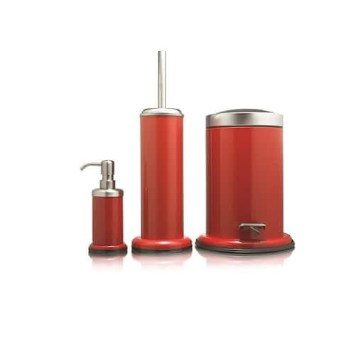 Sealskin 3-Piece Bathroom Accessories Set Acero Red