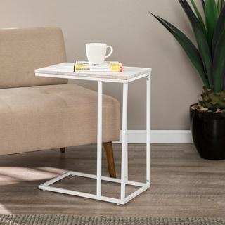 Carson Carrington Skane White C Table / Laptop Desk