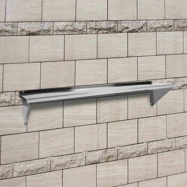 Stainless Steel Kitchen Wall Shelf 150x35cm