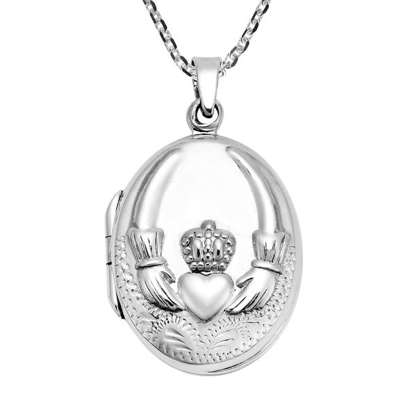 Shop Handmade Stunning Claddagh Symbol On An Oval Sterling Silver