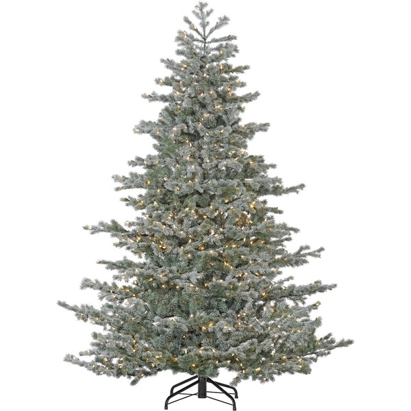 Shop Fraser Hill Farm 9-foot Oregon Fir Artificial Christmas Tree with Smart String Lighting - Free Shipping Today - Overstock.com - 23496980