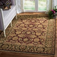 Safavieh Couture Handmade Old World Traditional Oriental - Burgundy / Green Wool Rug - 5' x 8'