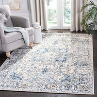 "Safavieh Madison Vintage Boho Medallion Grey / Ivory Rug - 6'7"" x 9'2"""