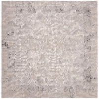 "Safavieh Meadow Modern & Contemporary Abstract - Taupe / Grey Rug - 6'7"" x 6'7"" square"