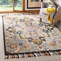 Safavieh Handmade Aspen Bohemian & Eclectic Southwestern - Grey / Charcoal Wool Tassel Area Rug - 4' x 6'
